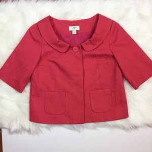 Ann Taylor Loft muted pink cropped jacket size 0